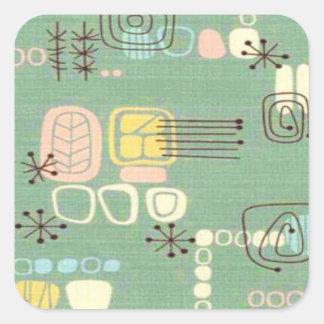 Mid Century Modern Graphic Design Stickers