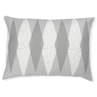 Mid Century Modern Grey Argyle Dog Bed