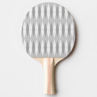 Mid Century Modern Grey Argyle Ping Pong Paddle