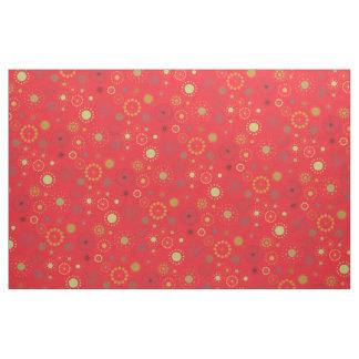 Mid-Century Modern Holiday Snowflake Pattern Fabric