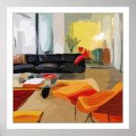 Mid Century Modern Living Room Print