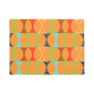 Mid Century Modern Orange Pattern Door Mat