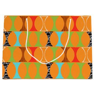 Mid Century Modern Orange Pattern Gift Bag