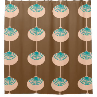 Mid-Century Modern Ovals Abstract Brown I