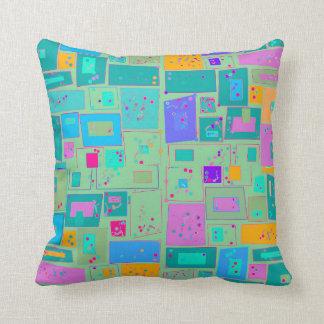 Mid Century Modern Patterns Throw Pillow