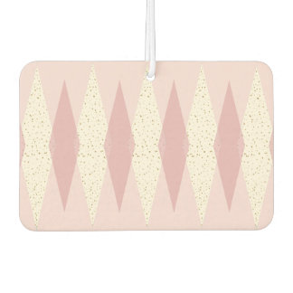 Mid Century Modern Pink Argyle Air Freshener