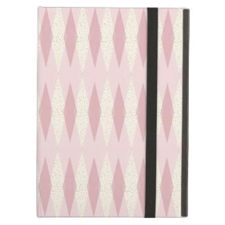 Mid Century Modern Pink Argyle iPad Air Case