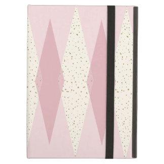 Mid Century Modern Pink Argyle iPad Case