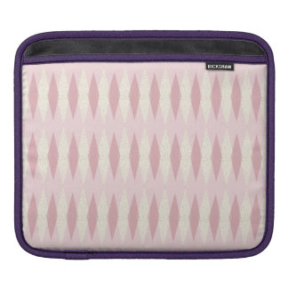 Mid Century Modern Pink Argyle iPad Sleeve