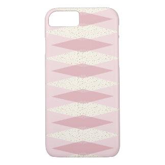 Mid Century Modern Pink Argyle iPhone Case