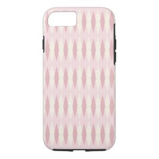 Mid Century Modern Pink Argyle iPhone/iPad Case