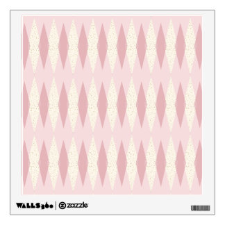 Mid Century Modern Pink Argyle Wall Decal