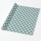 Mid Century Modern Retro Mod Overlapping Circles Wrapping Paper