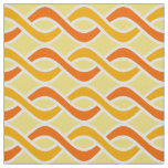 Mid-Century Modern Ribbons, yellow and orange Fabric