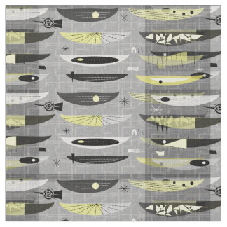 Mid-Century Modern Space Age Abstract Fabric