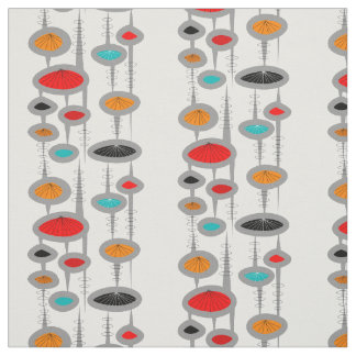 Mid-Century Modern Space Age Ovals Fabric