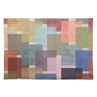 Mid Century Modern Squares Placemat