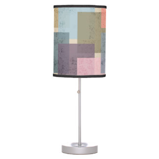 Mid Century Modern Squares Table Lamp