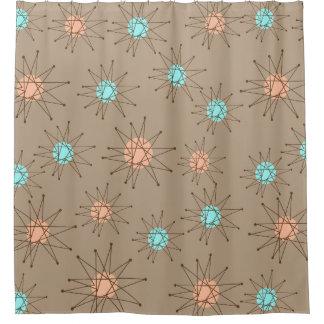 Mid-Century Modern Starburst Pattern Tan