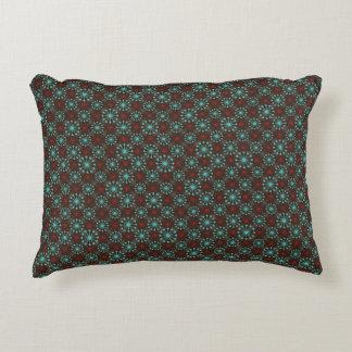 Mid Century Modern Starburst Turquoise Red Pattern Decorative Pillow