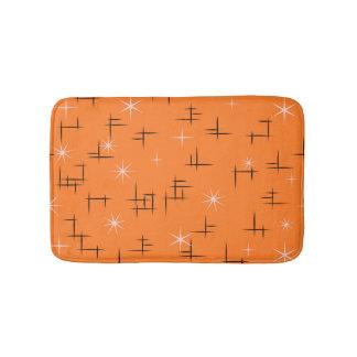 Mid Century Modern Stars Bathroom Mat