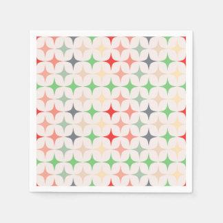 Mid-Century Modern Stars Paper Napkin