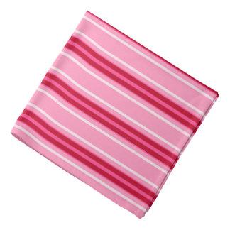 Mid-Century Modern Stripes, Pink and  Burgundy Bandana