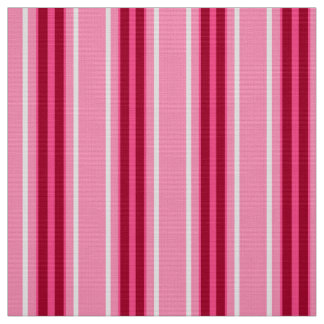 Mid-Century Modern Stripes, Pink and  Burgundy Fabric