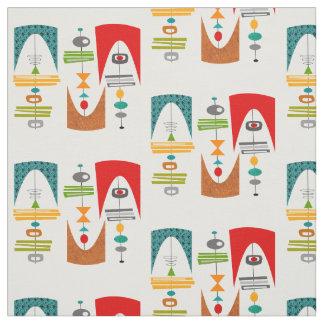 Mid-Century Modern Tiki Tok Fabric