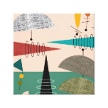 Mid Century Modern Wrapped Canvas Abstract #66 Stretched Canvas Prints