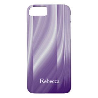 mid century pattern metallic purple lilac lines iPhone 8/7 case
