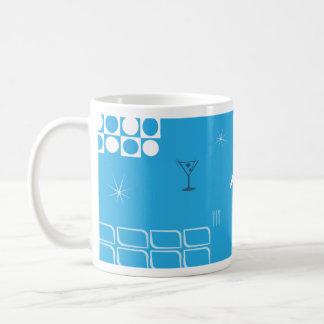 Mid-Century Retro Blue Jetliner Coffee Mug