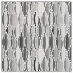 Mid-Century Ribbon Print - shades of grey / grey Fabric