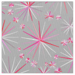 Mid Century Sputnik pattern, Grey and Fuchsia Fabric