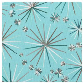 Mid Century Sputnik pattern, Robin's Egg Blue Fabric