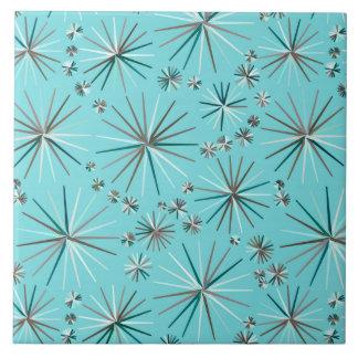 Mid Century Sputnik pattern, Robin's Egg Blue Tile