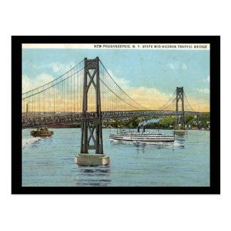 Mid-Hudson Bridge, Poughkeepsie 1930 Vintage Postcard