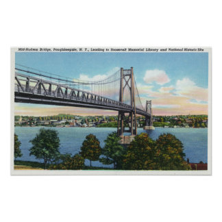 Mid-Hudson Bridge to Roosevelt Nat'l Historic Poster