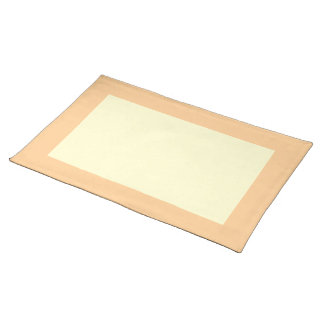 Mid-Peach and Cream-Colored Placemat