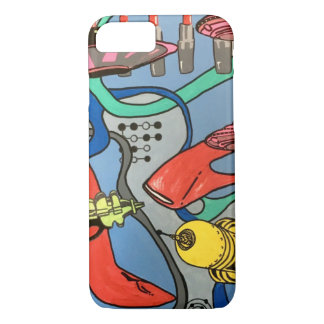 'MidCentury Mod Glamour Invasion' painting on a iPhone 8/7 Case