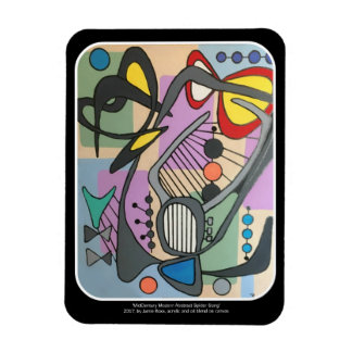'MidCentury Mod Spider Song' painting on a Rectangular Photo Magnet