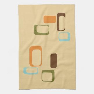 Midcentury modern geometric squares kitchen towel