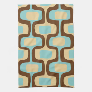 Midcentury modern geometric squiggly shapes kitchen towel