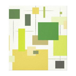 Midcentury Modern Green Square Canvas Print