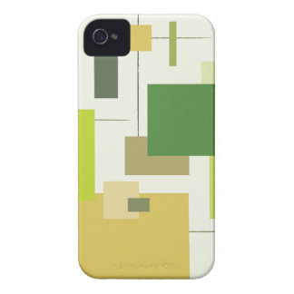 Midcentury Modern Green Squares iPhone 4 Covers