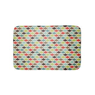 Midcentury modern scallops bathroom mat