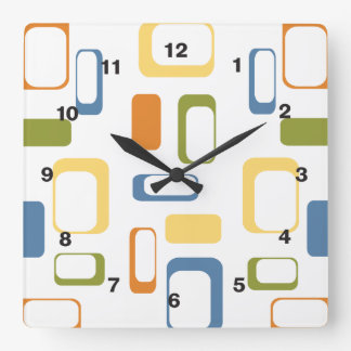 Midcentury Modern shapes clock