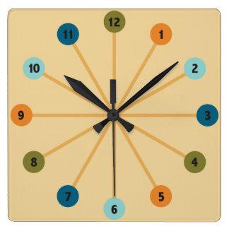 Midcentury Modern Starburst Retro Clock