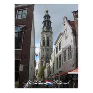 Middelburg Lange Jan Holland Postcard