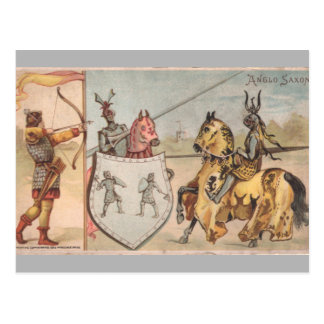 Middle Ages Knights Postcard